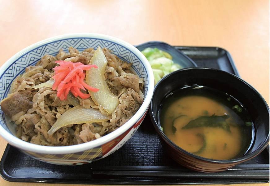 牛丼(並) 380円 + お新香セット 110円